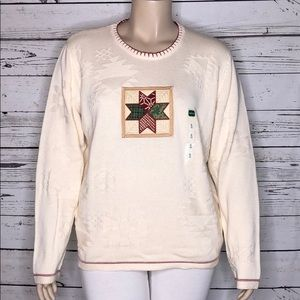 Cabela's NWT XL Patchwork Star Christmas Sweater